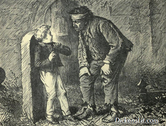 An analysis of the character of magwitch in charles dickenss novel great expectations